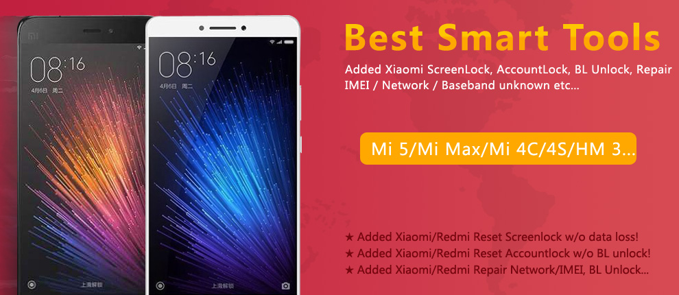 Xiaomi Reset Screenlock/Accountlock/Repair IMEI/Network
