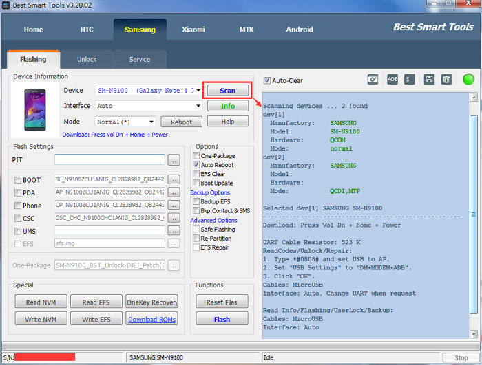 BST-Samsung SM-N9100 (Note4) Write Cert/Repair Cert/IMEI Repair